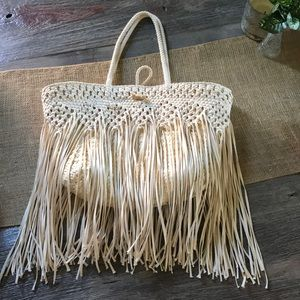Merona fringe beach bag